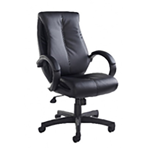 Black faux leather office chairs with stylish profile and an ideal accompaniment to our executive chairs.