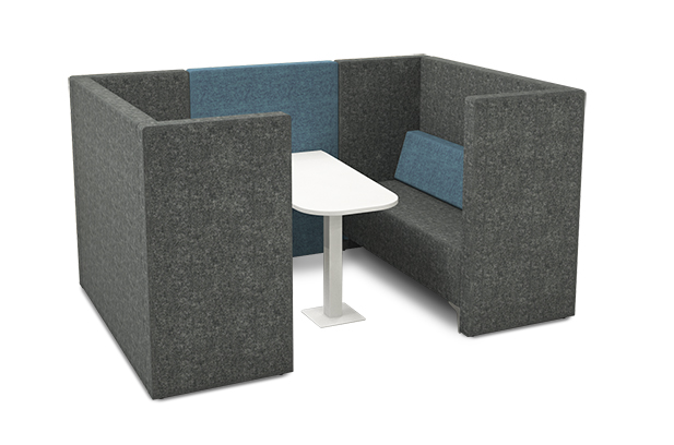 Contemporary 4 seater booth seating
